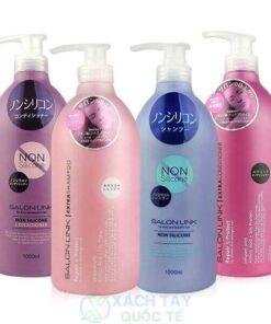 Bộ Dầu gội siêu mượt Salon Link EXTRA 1000ml dành cho tóc khô
