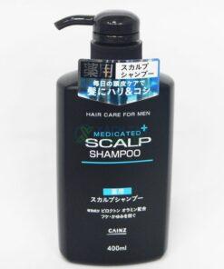Dầu gội dược liệu Medicated Plus Scalp Shampoo Cainz 400ml (Nam)