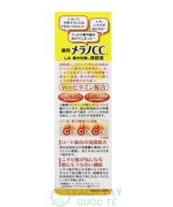 Serum Vitamin C Melano CC Rohto Trị Nám Mụn 20ml