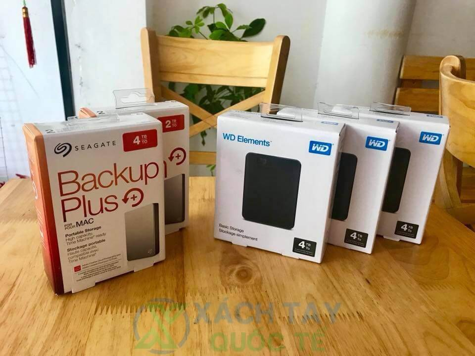 Seagate Back Up Plus 2TB 4TB và WD Elements 4TB