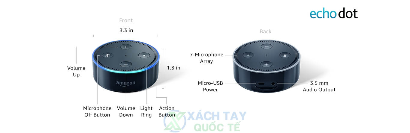 Chi tiết Echo Dot (2nd Generation)